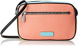Marc by Marc Jacobs Blocked and Pieced Sally Cross Body Bag, Spring Peach Multi, One Size
