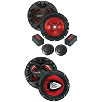 BOSS CH6CK 6.5 350W Component + Boss CH6530 6.5 300W Car Speakers Package