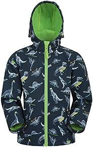 Mountain Warehouse Exodus Kids Softshell Jacket With Hood - Girls Boys Coat