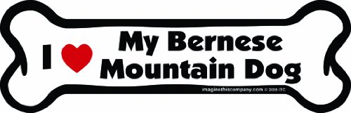 Imagine This Bone Car Magnet, I Love My Bernese Mountain Dog, 2-Inch by 7-Inch
