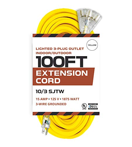 10 gauge extension cord 100 ft - 2
