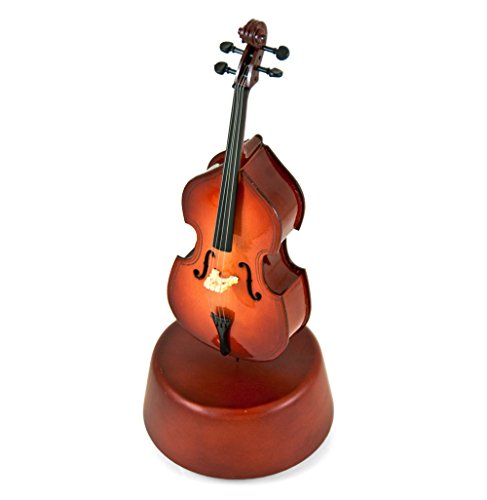 Prestigious 18 Note Miniature Classical Cello With Rotating Musical Base - Over 400 Song Choices - .0 Holy Night by MusicBoxAttic