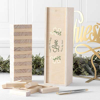 Cathy's Concepts Building Block Wedding Guestbook (Love Floral)