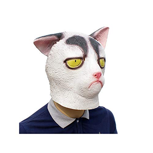 TECHLINK Novelty Cat Mask Animal Head Mask Grumpy Cat Mask Halloween Costume Party ()