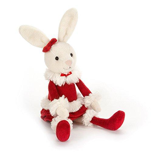 Jellycat Christmas Bitsy Bunny Stuffed Animal, 9 - Bunny Christmas