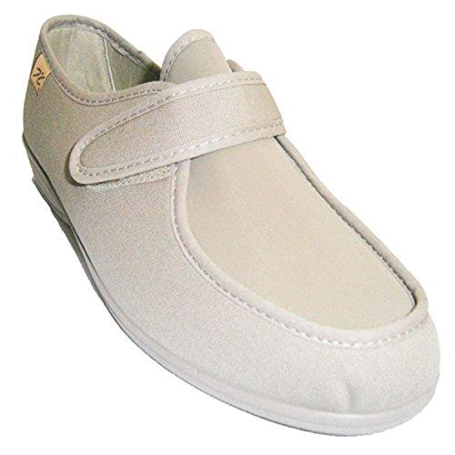 Zapatillas velcro muy anchas pies muy delicados Doctor Cutillas en tostado