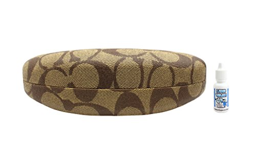 Coach Eyeglasses Case | Brown (M) | Free Lens Wash Cleaning Solution
