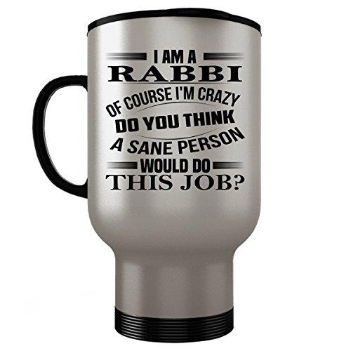 [RABBI Travel Mug - RABBI Gifts -Stainless Steel Travel Mug, Coffee Cup #02] (Dog Rabbi Costume)