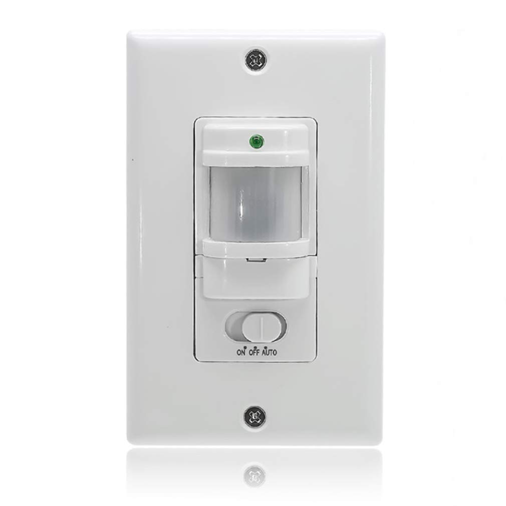 FROGBRO in Wall PIR Sensor Switch, Motion Sensor Light Switch, On/Off Override,180°Field View, Neutual Wire Required