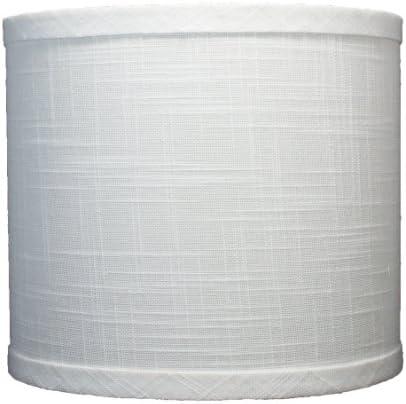 Urbanest Linen Drum Lamp Shade, 8x8x7 , Off White, Spider