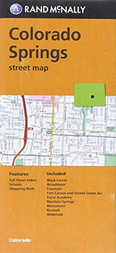 Colorado Springs Street Map (CO) Rand McNally