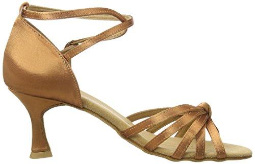 Para De Latino 087 Baile amp; Zapatos Standard Tan Mujer 109 Diamant Latein dark Marrón 087 Tanzschuhe Damen qI7g0