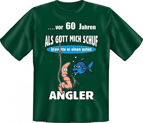 Lustiges T-Shirt zum 60. Geburtstag für Angler - Geschenk Idee