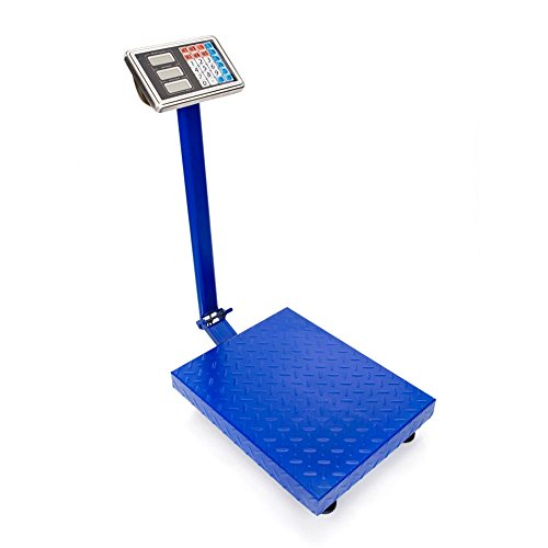 600LB 300kg Weight Digital Floor Scale Platform Postal Bench Shipping Weight Lb Warehouse