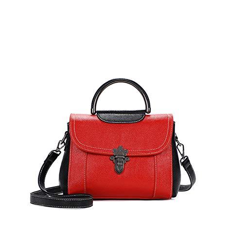 Wax Zaino Ladies Lady Bisser 2018 Fashion Leather Shoulder Red Leather Ragazza Borse Fashion Bag Oil fqUTB8p8