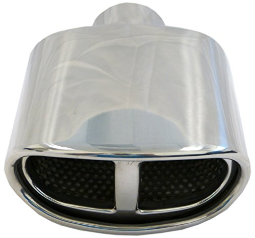 Genssi Muffler Tip Exhaust Tail Pipe Chrome Dual Oval Euro ID: 2.25