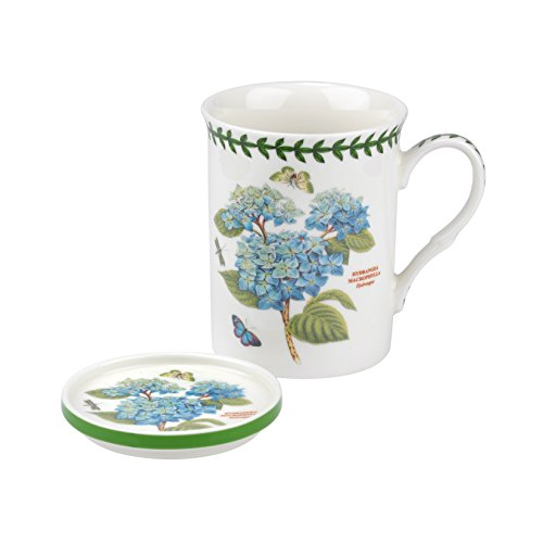 Portmeirion Coasters - Portmeirion Botanic Garden Blue Hydrangea Mug and Coaster Set