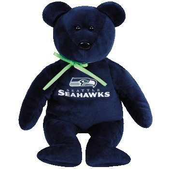 Ty Beanie Baby Seattle Seahawks Football Bear