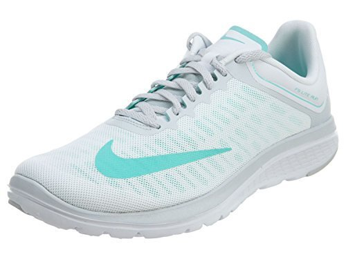 NIKE Womens FS Lite 2 Running Shoe, White/Hyper Turquoise/Pure Platinum, 9 B(M) US