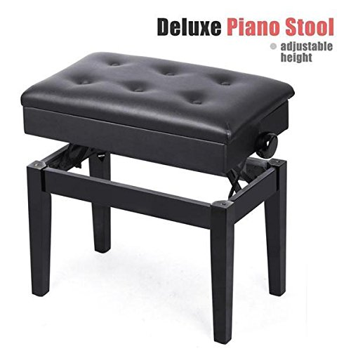 World Pride Height Adjustable Deluxe Piano Stool BenchWith Under-Seat Storage Unit (Black)  sc 1 st  Amazon.com & Adjustable Piano Stool: Amazon.com islam-shia.org