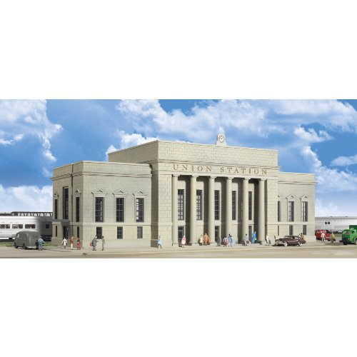 Walthers Cornerstone Series174 Plastic Kits N Scale Union Station - 16 x 6 x 5-1/2