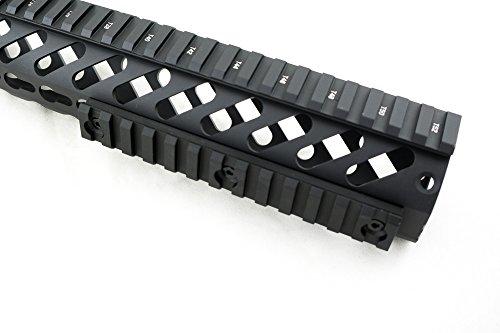 "Monstrum Tactical Mid Length (13 Slot/5.25"") Picatinny Rail for Keymod Systems (Black)"