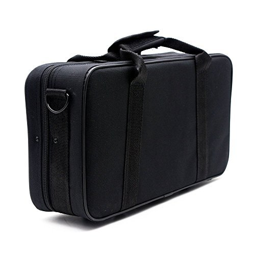 ammoon 600D Water-resistant Gig Bag Box Oxford Cloth for Clarinet with Adjustable Single Shoulder Strap Pocket Foam Cotton Padded