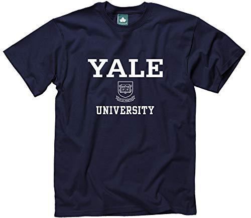 (Ivysport Yale University Short-Sleeve T-Shirt, Crest, Navy, Medium)