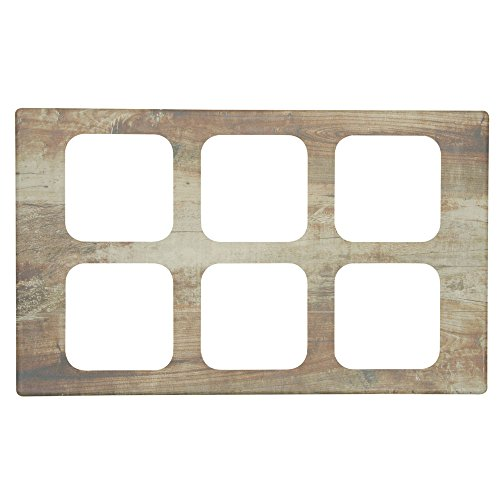 Sixth Size Food Bar Tile Tray For Cold Foods Reclaimed Wood Melamine - 21'' L x 12 3/4 W by Hubert