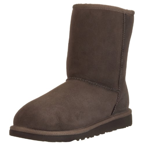 UGG Australia Girls' Classic Short Sheepskin Fashion Boot Chocolate 2 M - Ralph Polo Australia