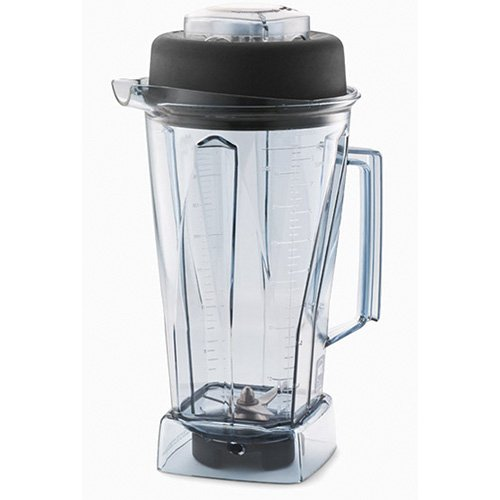 (Vitamix 15504 48 oz Commercial NSF Wet Blade and Lid Vita Mix Standard Clear Stackable Container 48oz,)