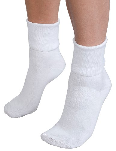 Buster Brown Ankle Socks White - 100% Cotton Size: 09 Ladies - 3 ()