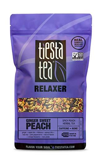 Tiesta Tea Ginger Sweet Peach, Spicy Peach Herbal Tea, 200 Servings, 1 Pound Bag, Caffeine Free, Loose Leaf Herbal Tea Relaxer Blend