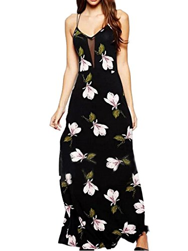 Choies Womens Floral Leaves Strappy