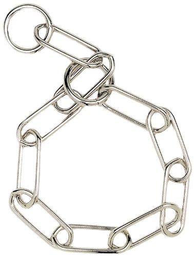 "HERM SPRENGER Fur Saver Link Dog Chain Training Collar, 3.0 mm x 23"", Steel Dog Collar, Dog Training Collar for Long Hair Dogs, Dog Correction Collar, Dog Supplies"