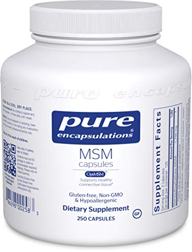 Pure Encapsulations – MSM Capsules – Hypoallergenic Supplement Supports Joint, Immune, and Respiratory Health* – 250 Capsules