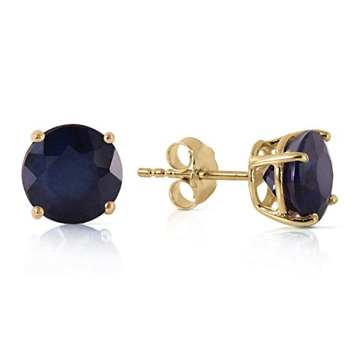ALARRI 3.3 Carat 14K Solid Gold Once Upon A Love Sapphire Earrings by ALARRI (Image #3)