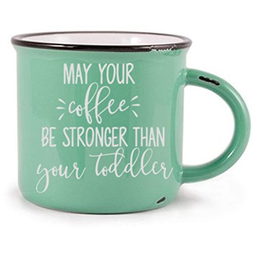 May Your Coffee Be Stronger Than Your Toddler White Vinyl De