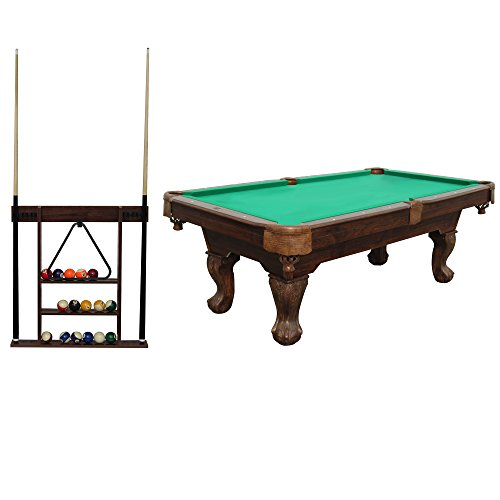 Md Sports Sportcraft 7 5 Foot Ball And Claw Billiard Table With Cue Rack