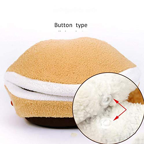 Button type L Button type L Cat Nest Four Seasons Universal Sleeping Bag Closed Pet Winter Warm Cat House Cat House Supplies Deep Sleep Cat Nest (Size   L, Style   Button type)