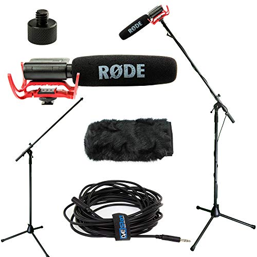 RODE VideoMic Studio Boom Kit with windmuff- VM, windmuff, Boom Stand, Adapter, 25' Cable