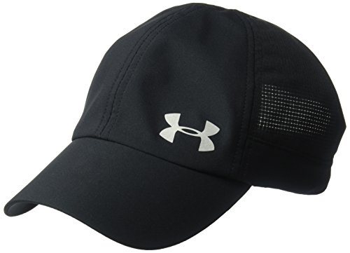 Under Armour Women's Thread Borne Fly By Cap, Black/Silver, One Size