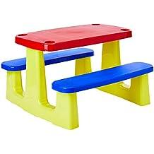 Conjunto com 1 Tampo, Assentos e 1 Base de Plásticos Montável Picnic, Tramontina, Vermelha