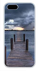 iPhone 5S Cases & Covers -Sea pontoon Custom PC Hard Case Cover for iPhone 5/5S ¨C White