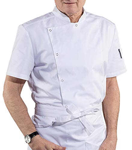BOUPIUN Chef Coat Unisex Short Sleeve Snap Classic Uniform Chef Jackets Summer