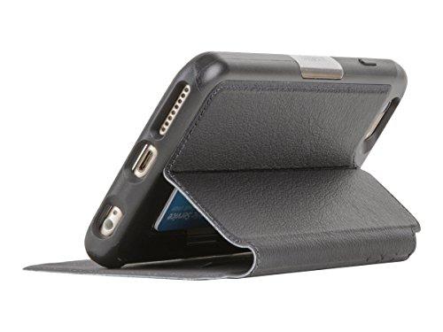 OtterBox STRADA SERIES iPhone 6 Plus/6S Plus Case- Retail Packaging - NEW MINIMALISM (BLACK/DARK GREY/BLACK LTHR FOLIO) by OtterBox (Image #5)