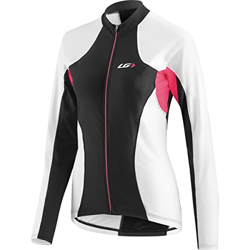 Louis Garneau - Women's Ventila Long Sleeve Cycling Jersey, Black/White, L (Spf Cycling Jersey)
