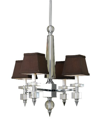Candice Olson Lighting Cluny 4-Light Chandelier, Chrome/Chocolate - Candice Chrome Chandelier