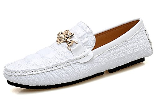 Scarpe Uomo Fashion Barca MYXUA Pigro Scarpe Nero White Estivi Casual Da Bianco Comfort Mocassini Da tw8RT