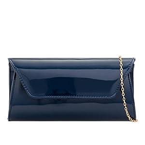 LeahWard Women's Patent Flap Clutch Bag Purses Party Evening Bags Handbag 250
